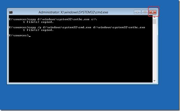 Сбрасываем пароль администратора в Windows 8
