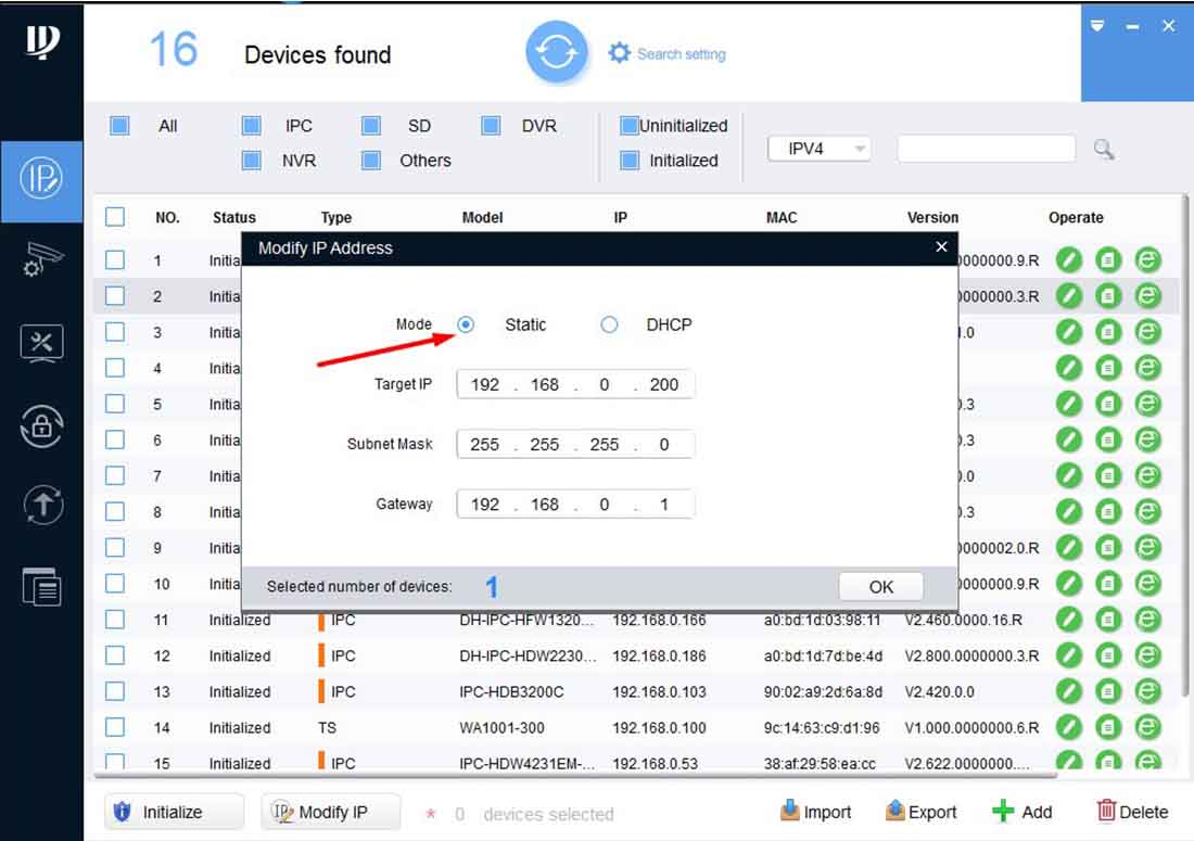 Как установить статичекий IP адрес на камере IMOU