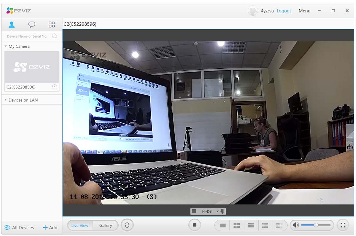 Просмотр камер EZVIZ на компьютере через программу EZVIZ PC Studio Software